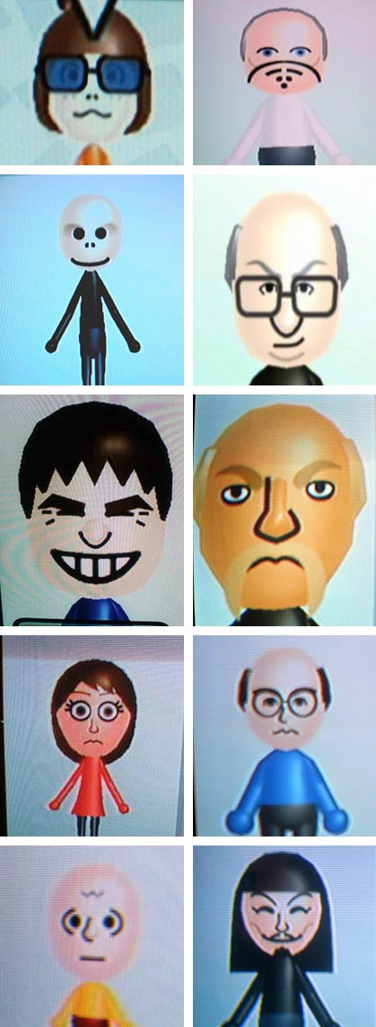 Celebrity Mii Contest Results