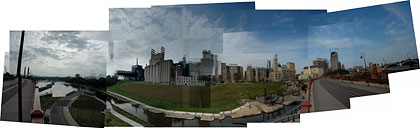 panorama of the Mill City Museum