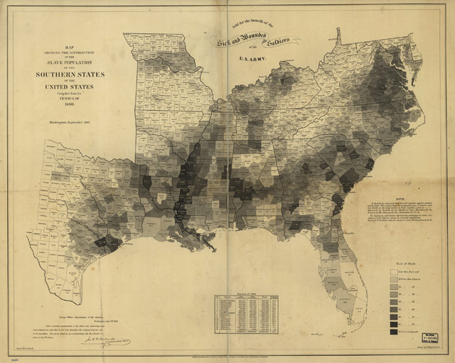 1861 map of slavery