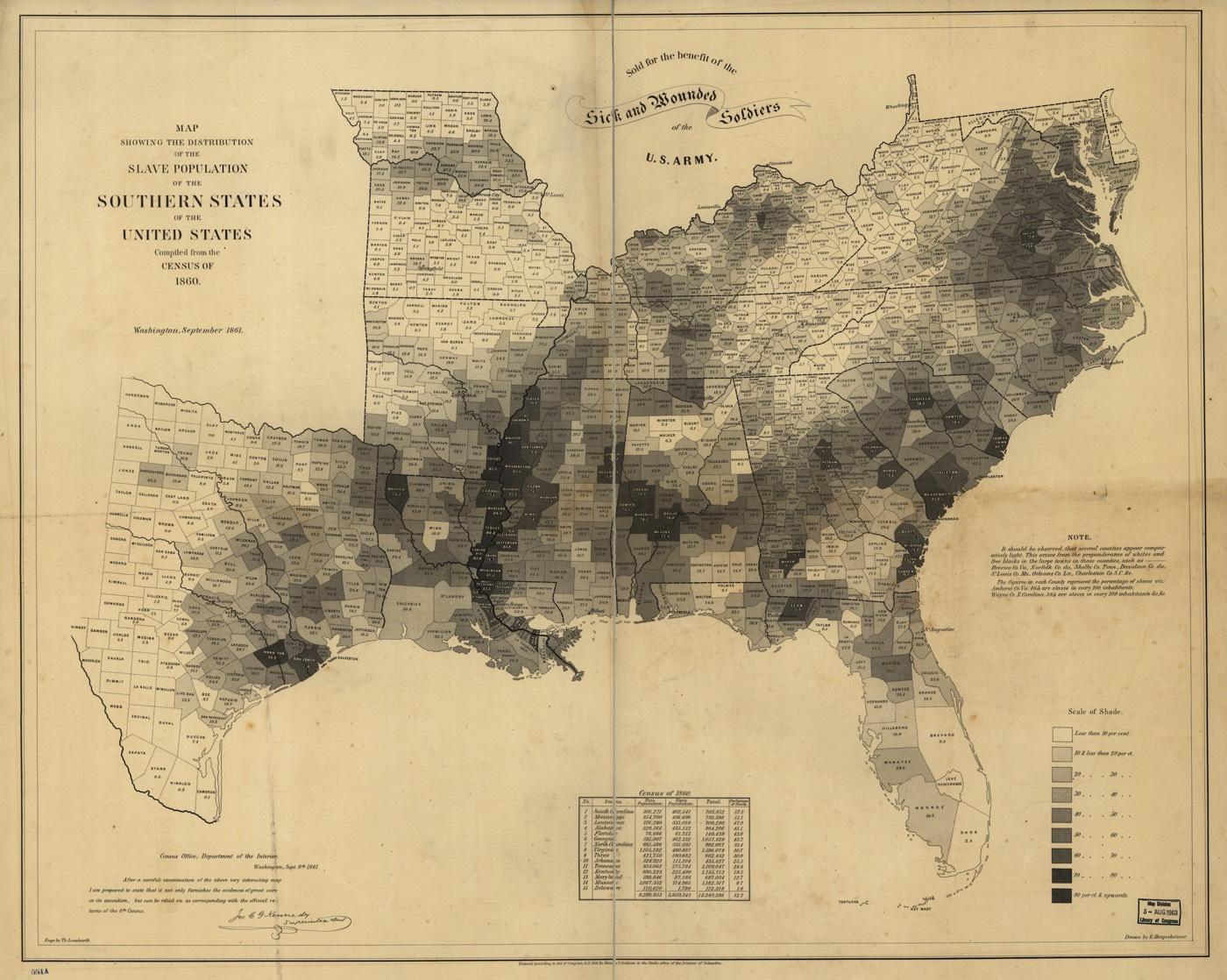 1861 Slavery Map