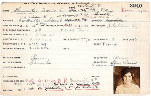 1920 Report Card
