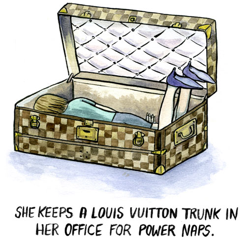 Anna Wintour's sleeping trunk