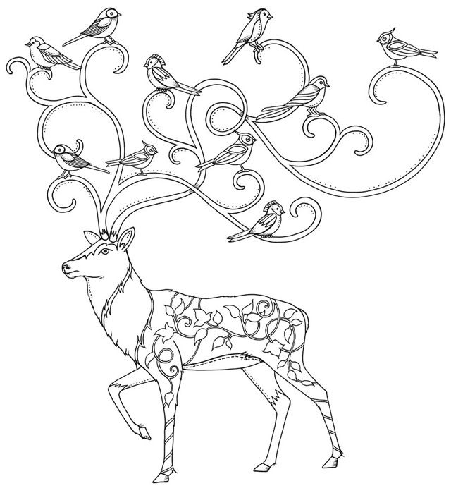 Tree Adult Coloring Book Finished Examples Coloring Pages