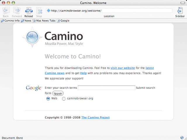 Camino for OS X