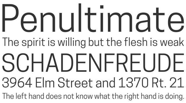 Cooper Hewitt typeface
