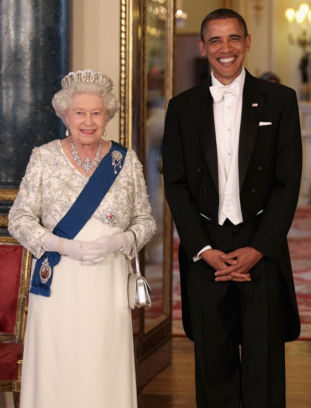 Elizabeth II with Obama