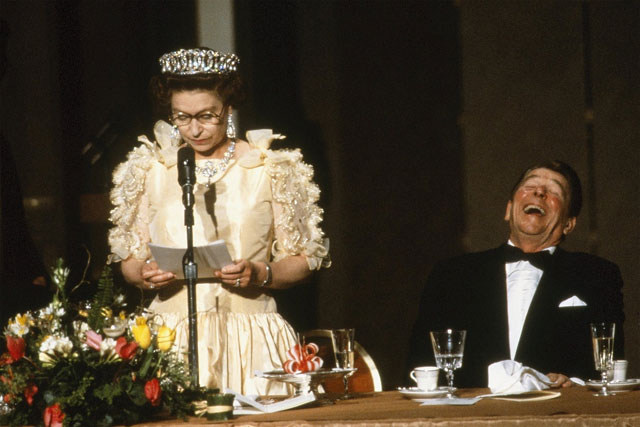 Elizabeth II with Reagan