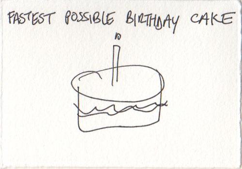 Fast cake