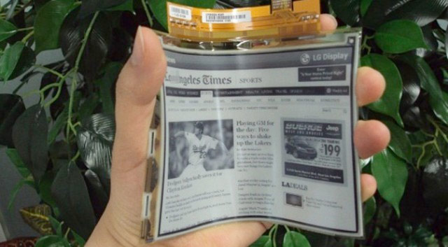 Flexible e-ink displays
