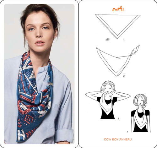 Fold Hermes scarf