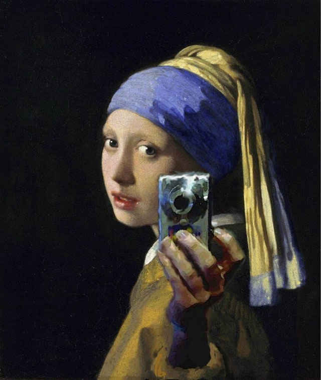 Girl Pearl Earring Camera