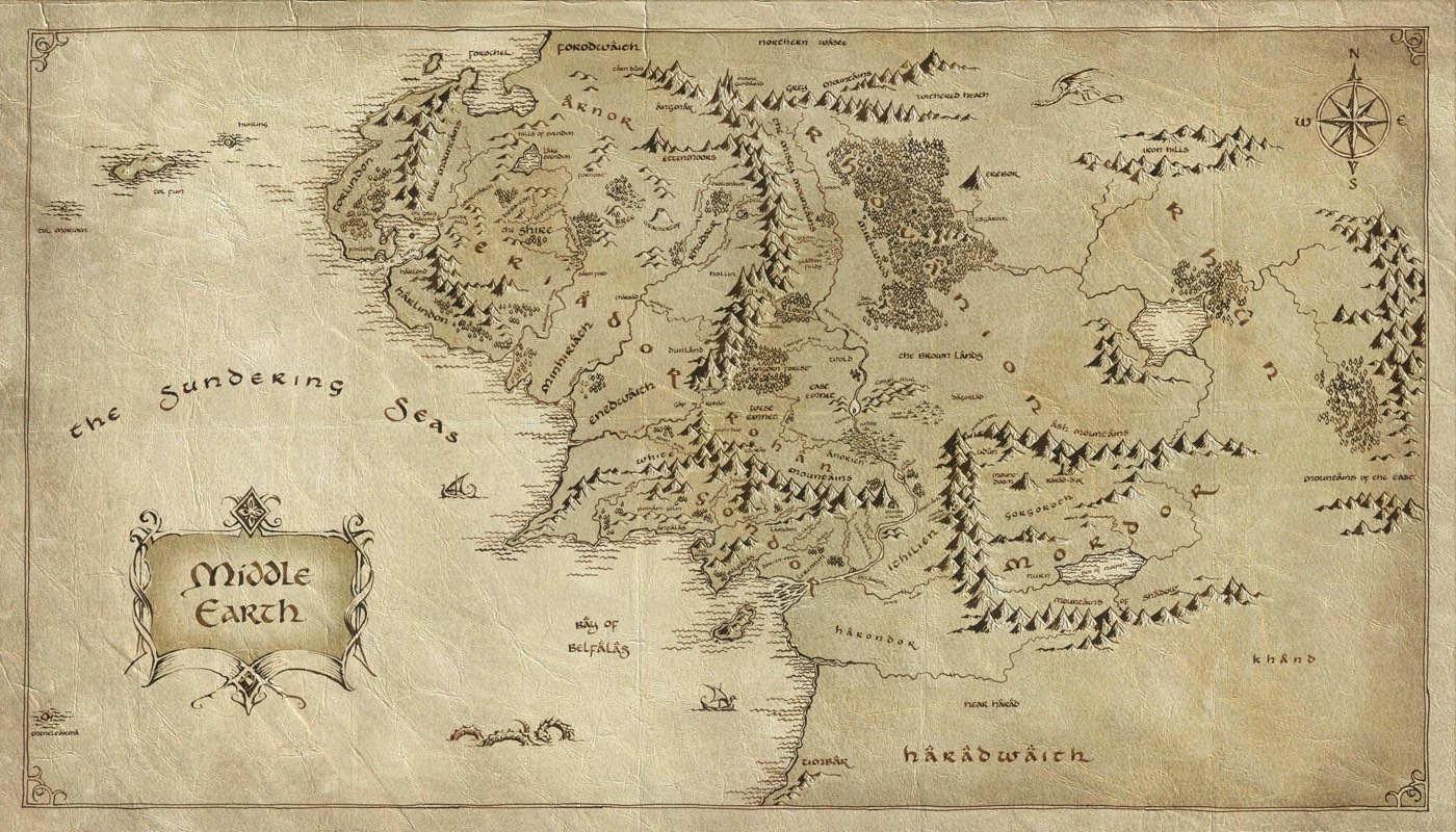 maps kottkeorg – Full Size Map of Middle Earth