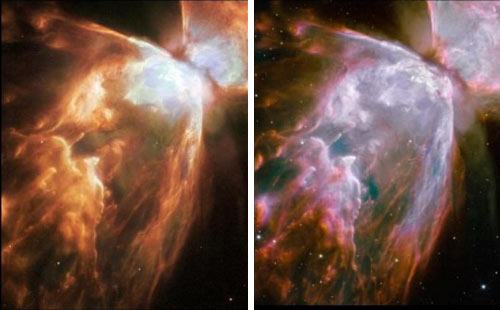 Hubble Before After