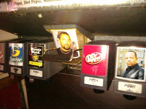 Ice Cube soda fountain
