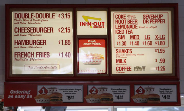 In N Out Menu