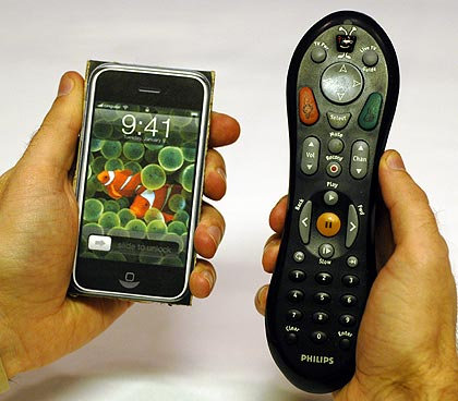 iPhone vs. TiVo remote