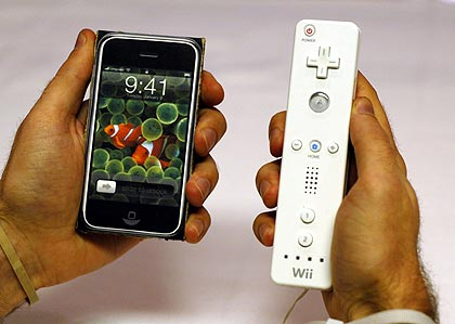 iPhone vs. Wii remote