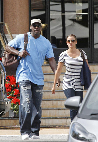Yvette Prieto and Michael Jordan sighted at Prime 112 restaurant on August 11, 2012 in