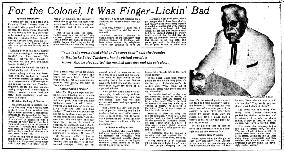 KFC Finger Lickin Bad