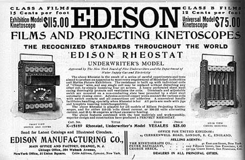 Kinetoscope advertisement