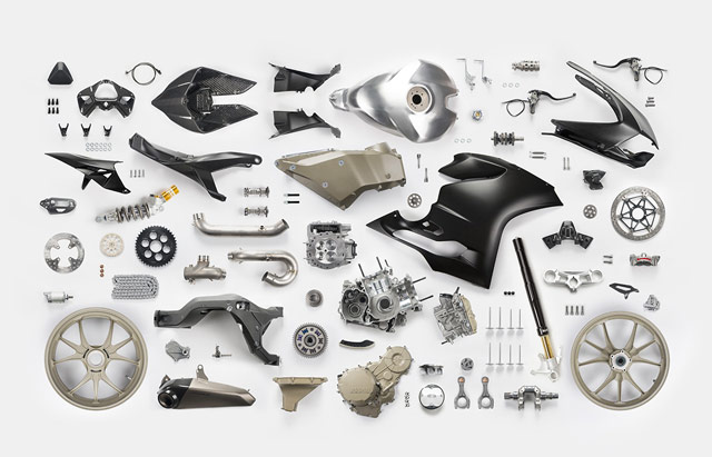Knolling Motorcycle