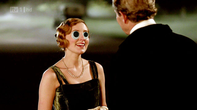 Lady Edith Crawley with googly eyes
