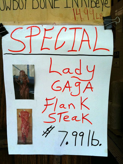 Lady Gaga flank steak