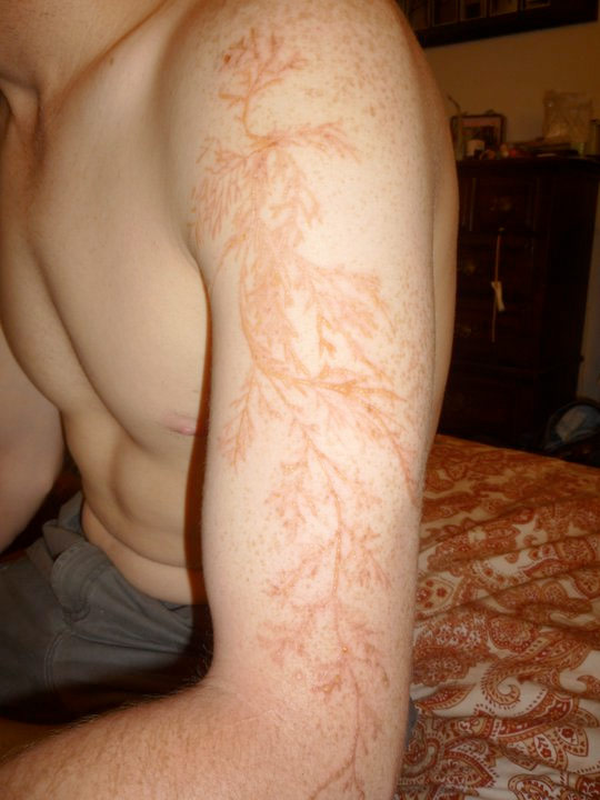 Lightning tattoo