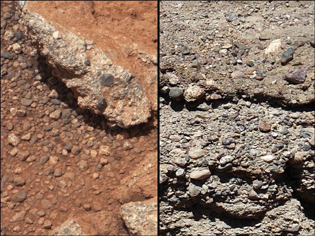 Mars Curiosity River Bed