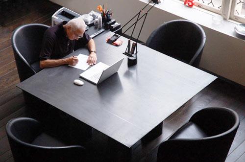 Massimo Vignelli's desk