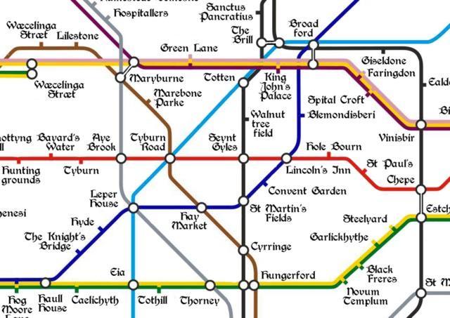Medieval Tube Map