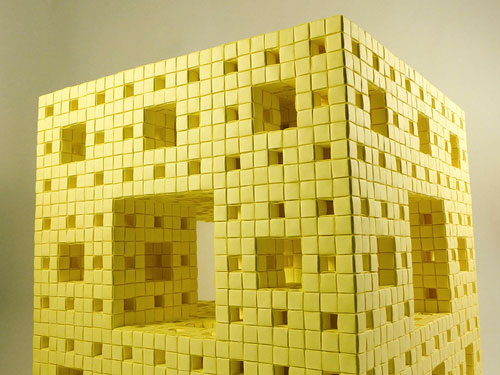 Menger sponge Post It