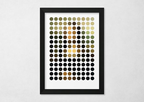 Mona Lisa in dots