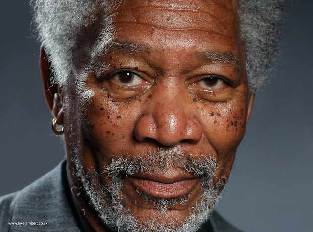 Morgan Freeman Painting