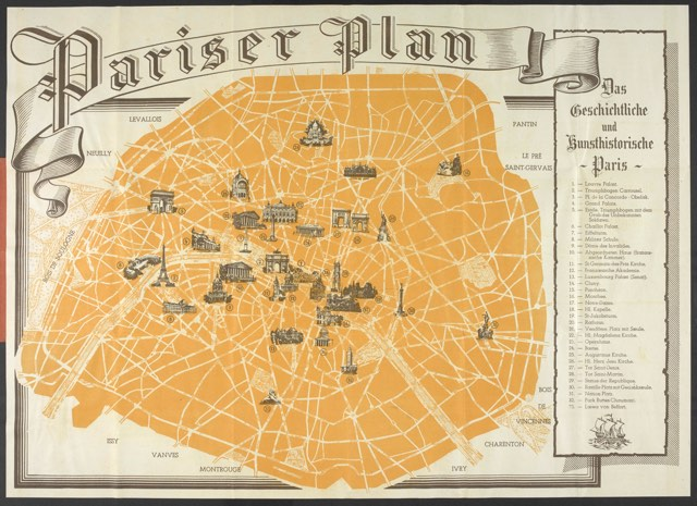 1940 nazi tourist map of paris mar 04 2015