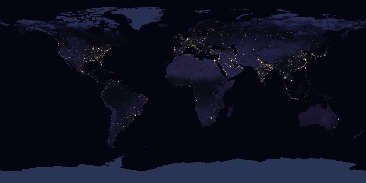 Night Map Earth 2017