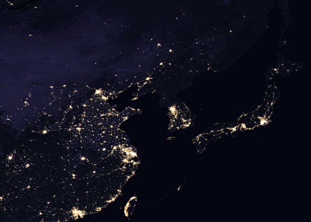 Night Map Earth 2017 03