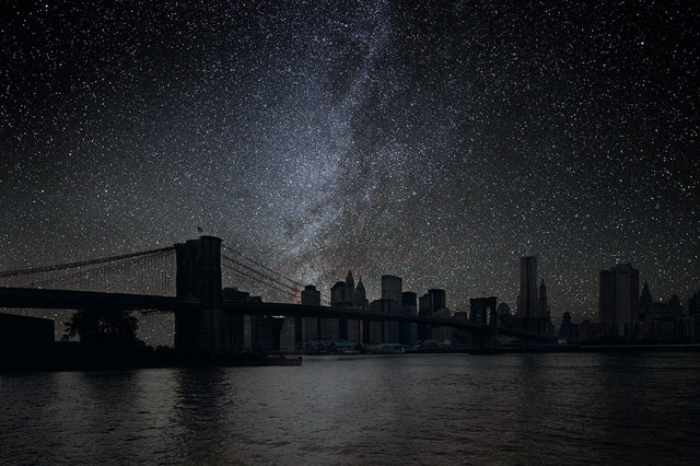 NYC with stars