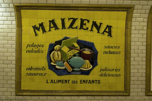 Old Paris Metro sign
