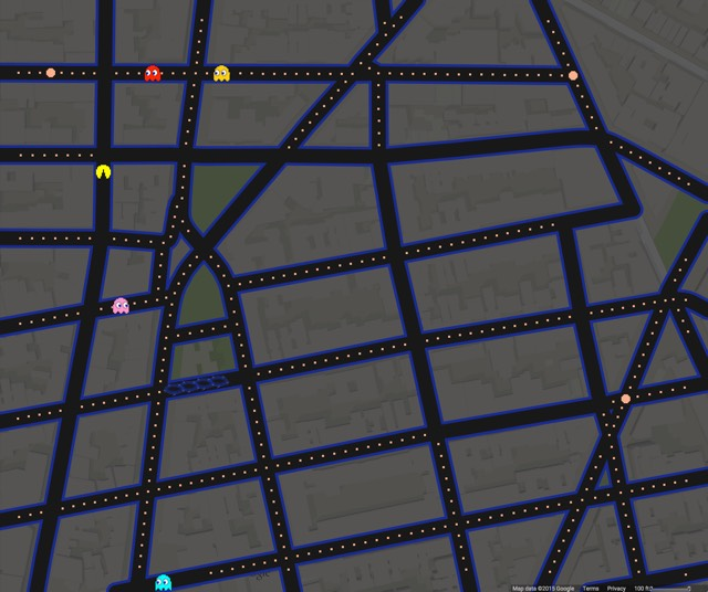 Pac-Man Google Maps