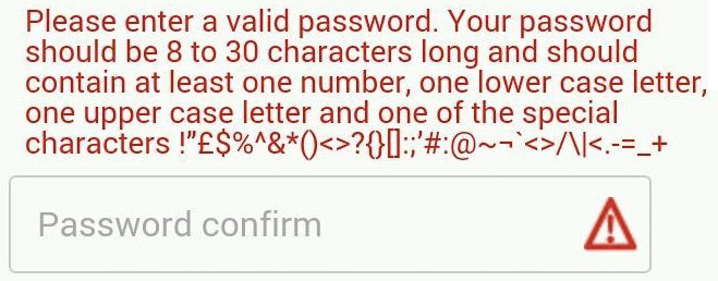 Password Req