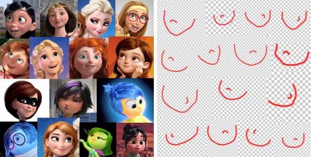 Pixar Female Faces