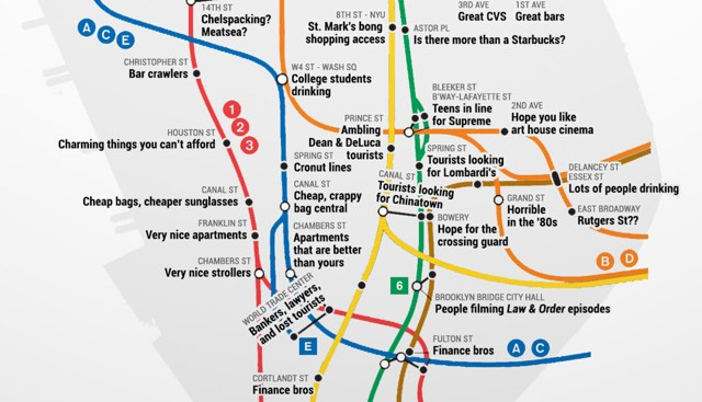 Real subway map of Manhattan