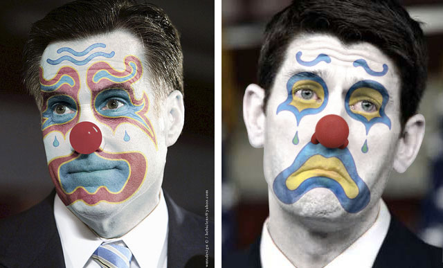 Romney Ryan Clowns