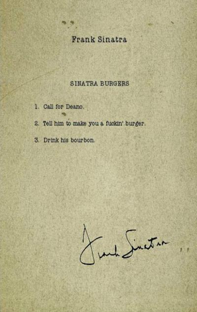 Sinatra Burger