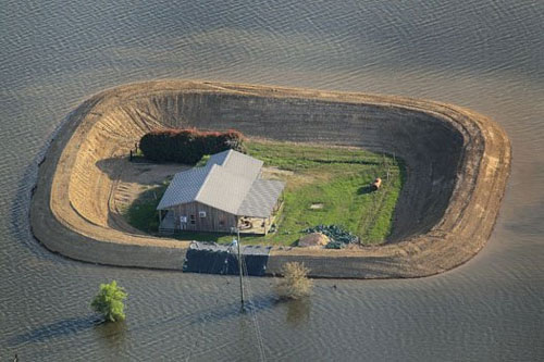 Single home levee