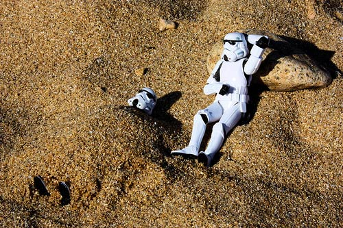 Stormtroopers at the beach
