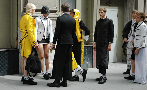 Thom Browne models