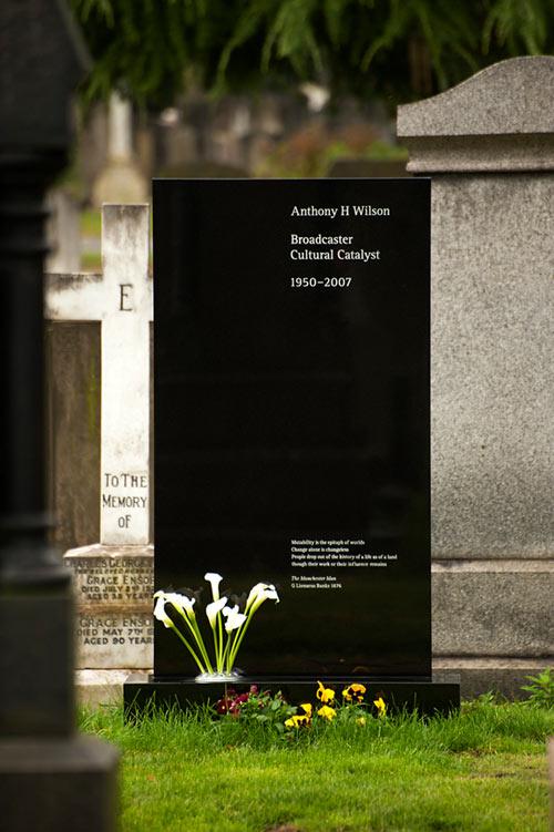 Tony Wilson's headstone