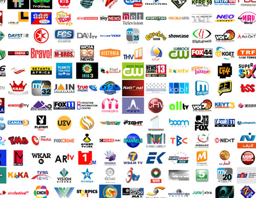 These are just a few of the 9000+ TV channel logos collected here .
